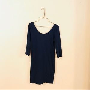 Forever 21 Navy Fitted Bodycon Dress